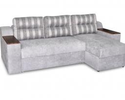Угловой диван Бостон с оттоманкой, Bis-M