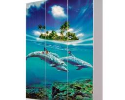 Шкаф 3Д Мульти, Дельфины, Світ меблів