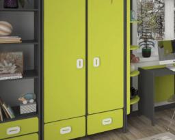 Шкаф двухдверный с ящиками Немо, Lion