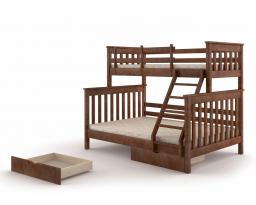 Двухъярусная кровать Скандинавия, без ящиков, Mebigrand
