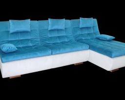 Угловой диван Орландо с оттоманкой с 2мя подушками, Nota