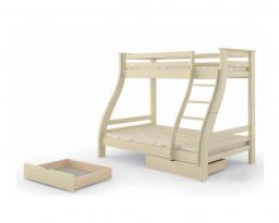 Двухъярусная кровать Аляска, без ящиков, Mebigrand