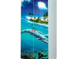 Шкаф 2Д Мульти, Дельфины, Світ меблів